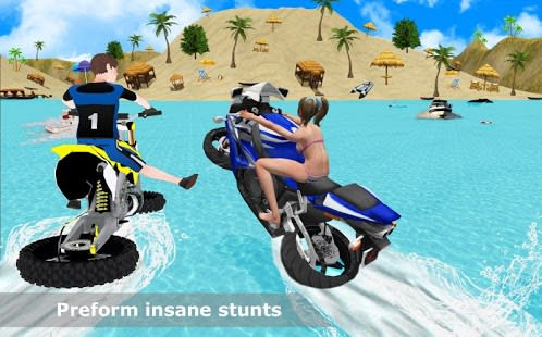 Water Surfing Bike Race