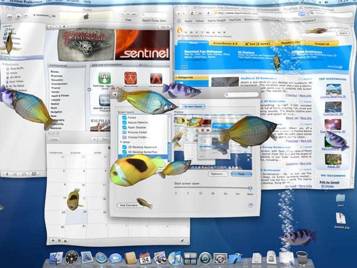 Aqua 3D Screensaver for Mac OS X