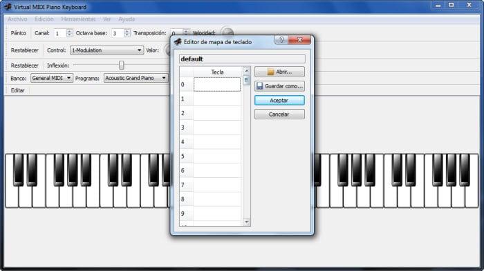 Virtual Midi Piano Keyboard