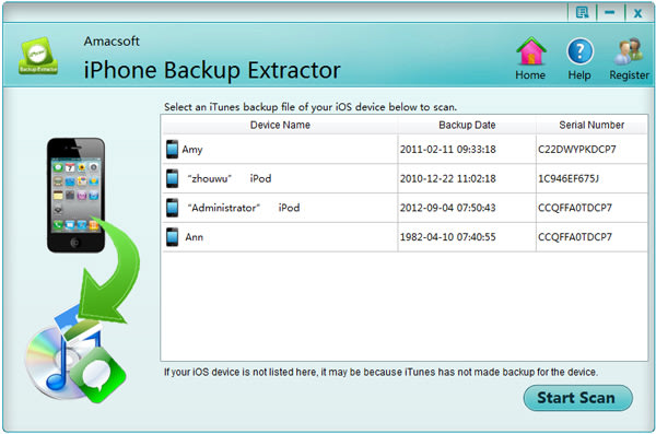 Amacsoft iPhone Backup Extractor