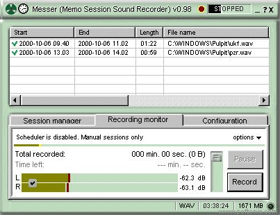 Messer - Memo Session Sound Recorder
