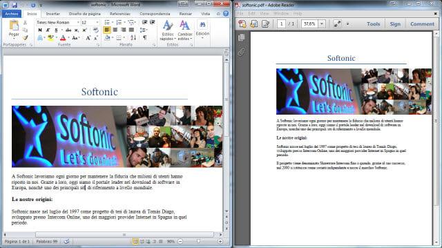 word to pdf converter softonic