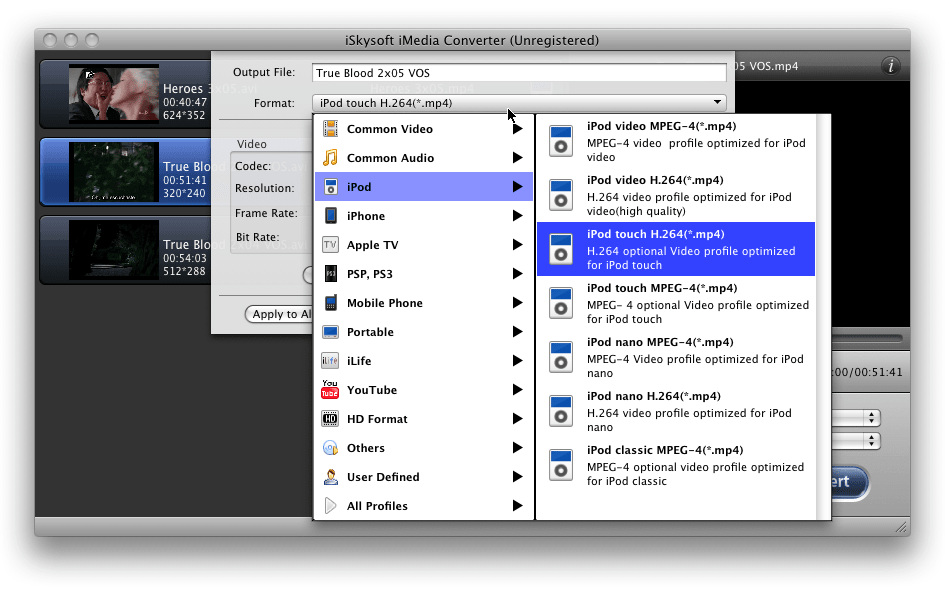 iSkysoft iMedia Converter for Mac