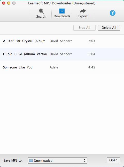 Leemsoft MP3 Downloader for Mac