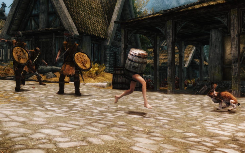 Skyrim Barrel Outfit Mod