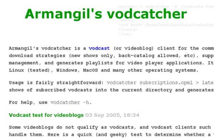 Armangil's vodcatcher