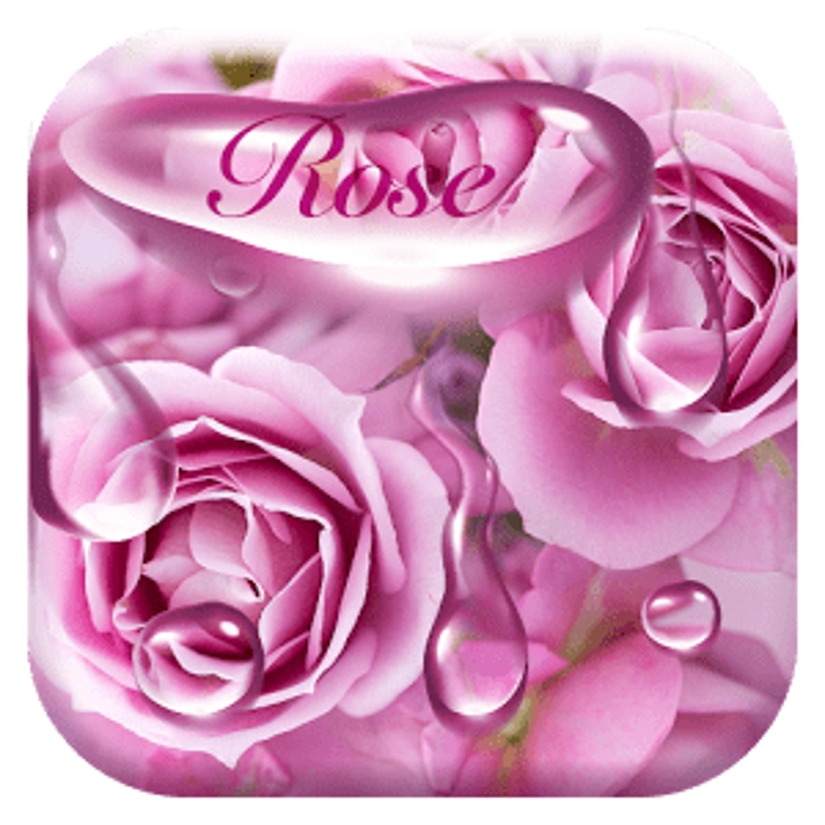 Rose waterdrops keyboard 10001002