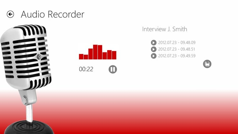 Audio Recorder for Windows 10