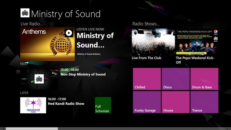 Ministry of Sound for Windows 10