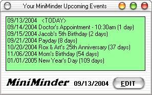 MiniMinder