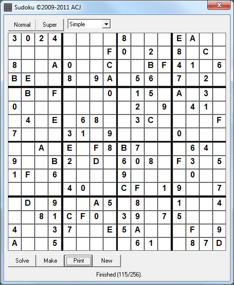 ACJ Sudoku