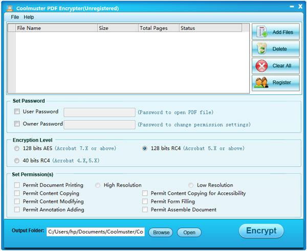 Coolmuster PDF Encrypter