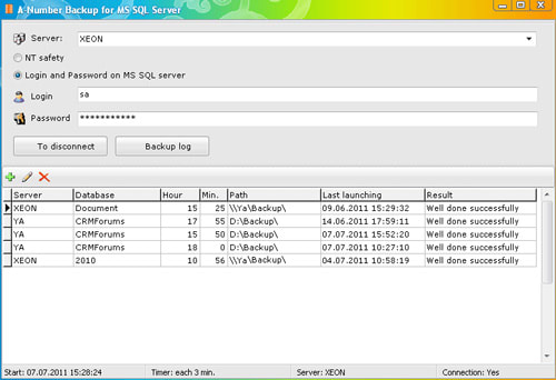 A-Number backup for MS SQL Server