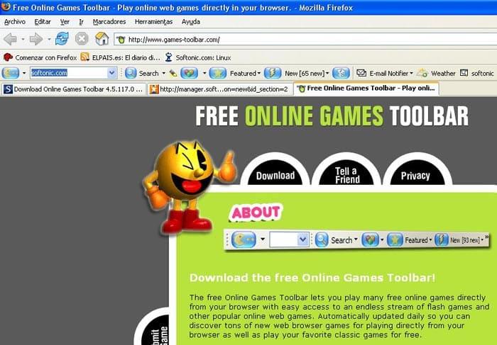 Online Games Toolbar