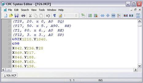 CNC Syntax Editor