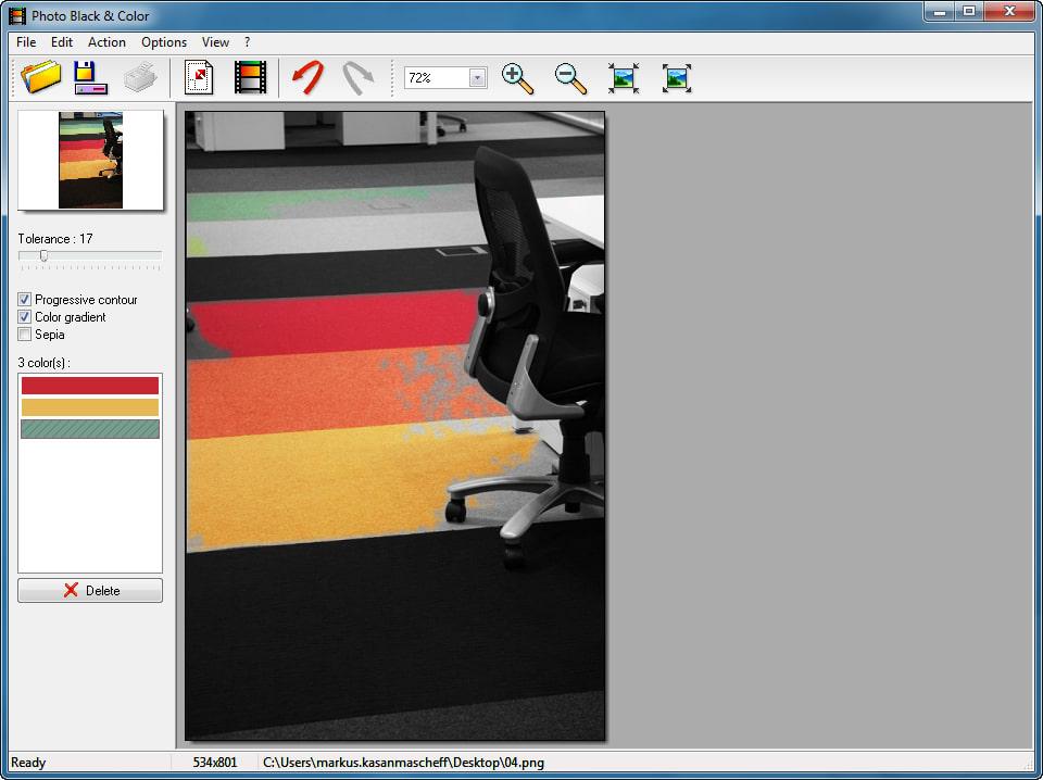 Photo Black & Color