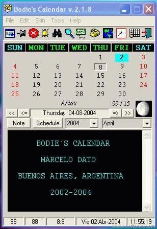 Bodie's Calendar