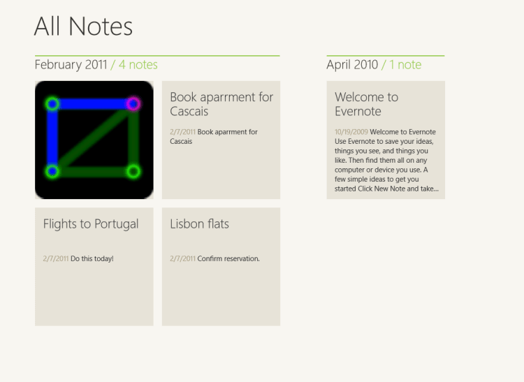Evernote voor Windows 10