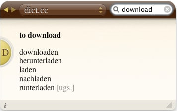 dict.cc Dictionary Plugin