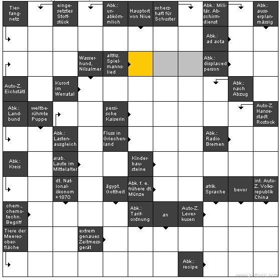 TooHot Crucigrama Java Applet