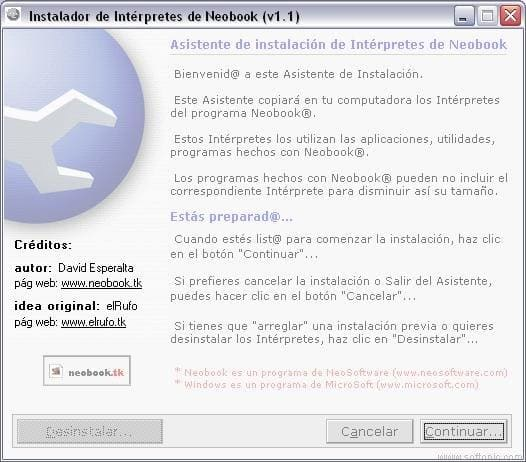 Interpretes Neobook