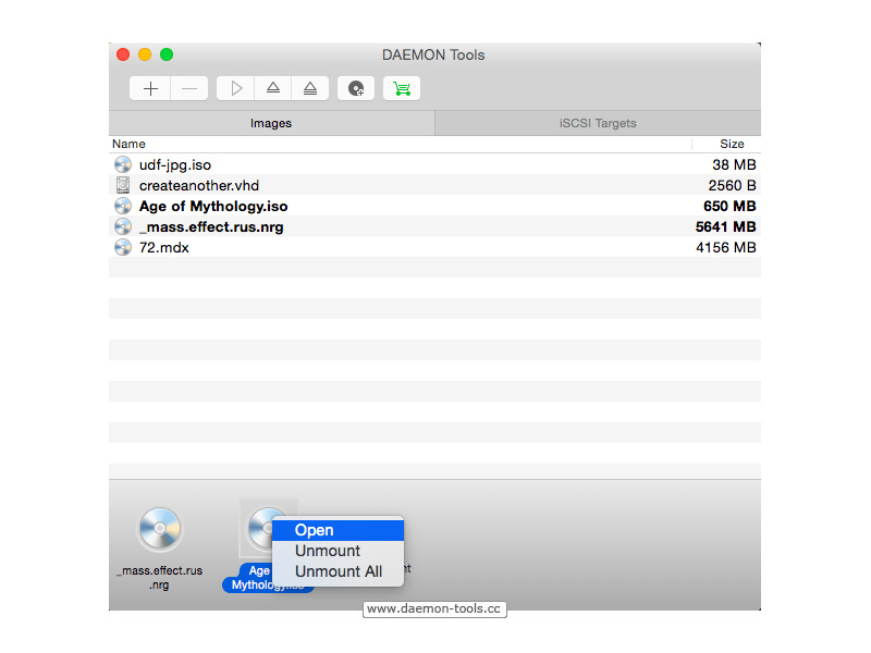 DAEMON Tools for Mac