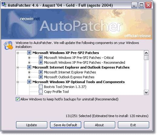 AutoPatcher XP April 2006
