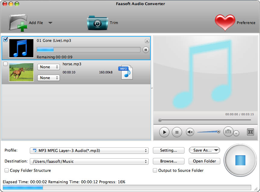 Faasoft Audio Converter for Mac