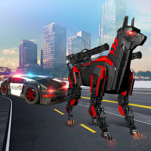 US Police Transform Robot Car Cop Dog: Robot game