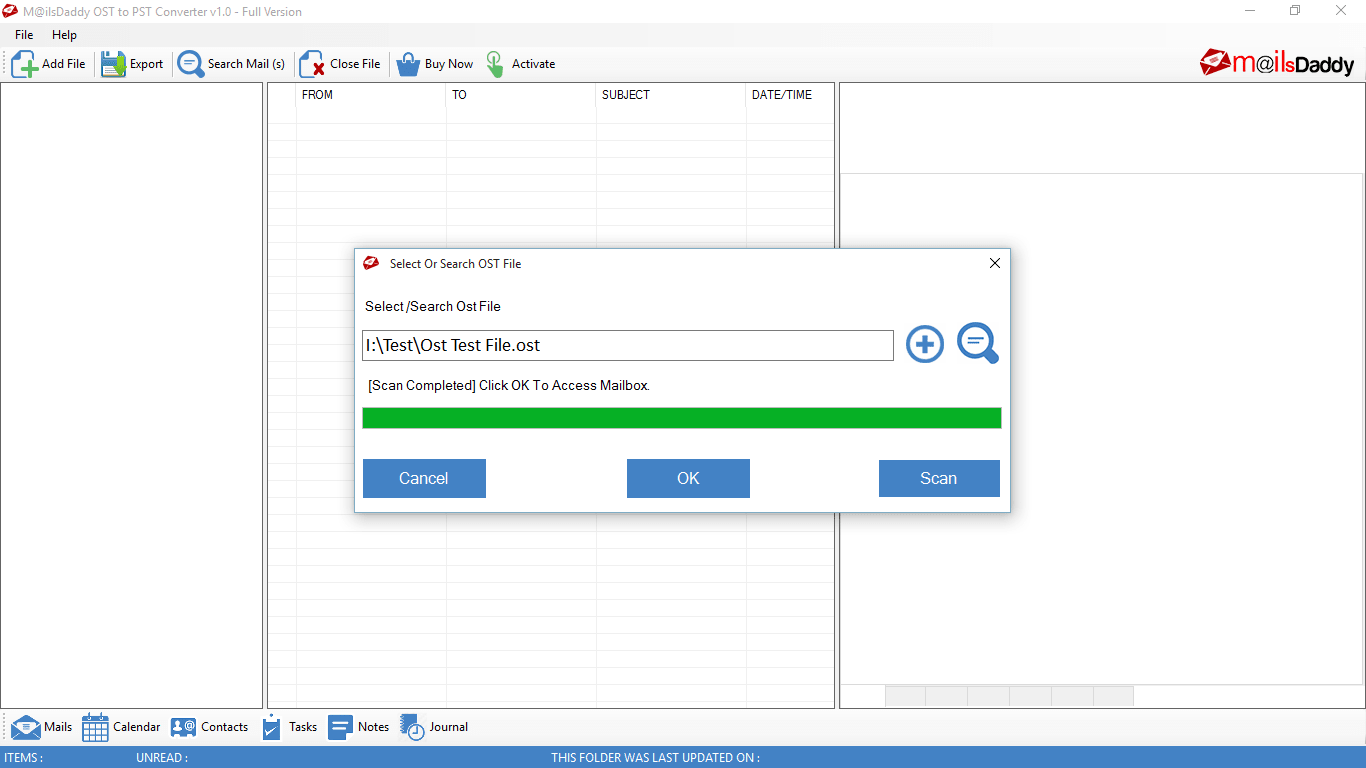 MailsDaddy OST to PST Converter