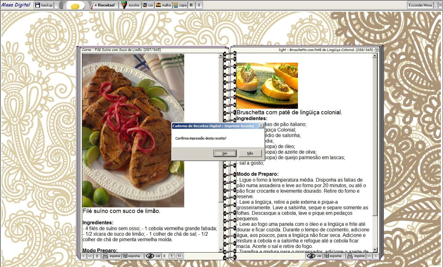 Caderno de Receitas Versão Digital