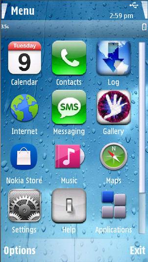 Tema iPhone 4 Para Nokia 1.0