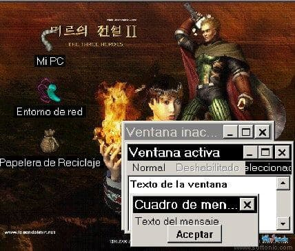 The Legend of Mir Desktop Theme