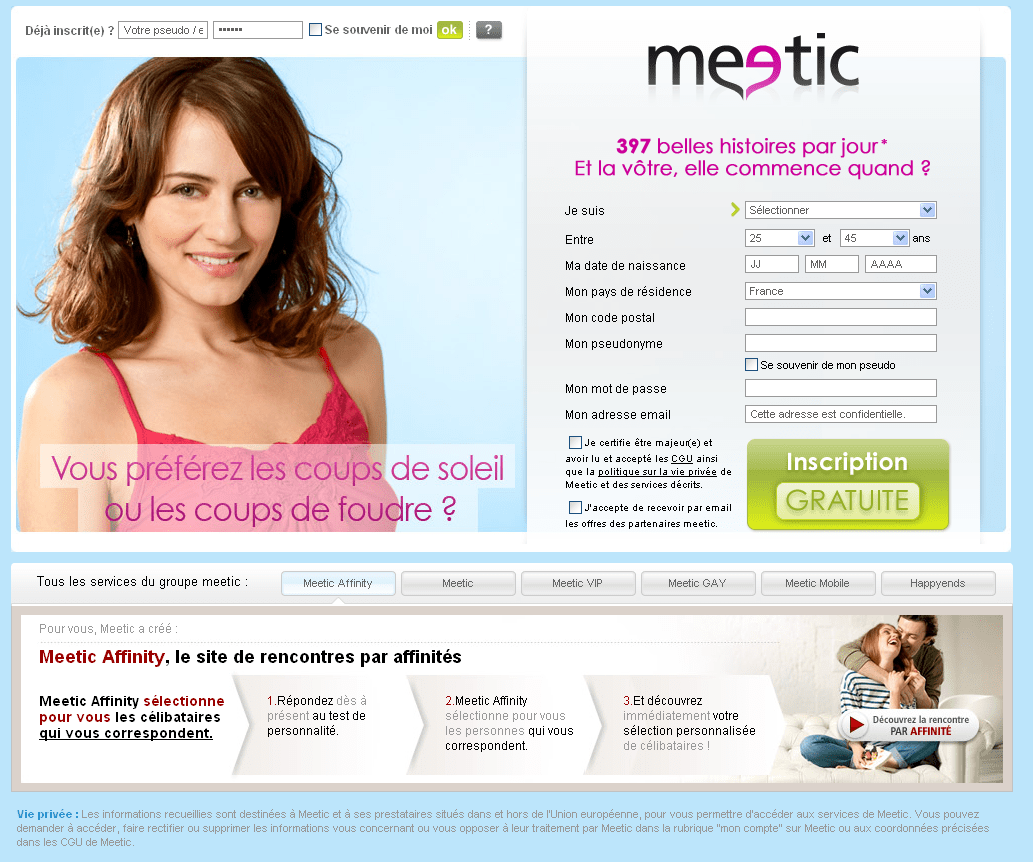 meetic online. Black Bedroom Furniture Sets. Home Design Ideas