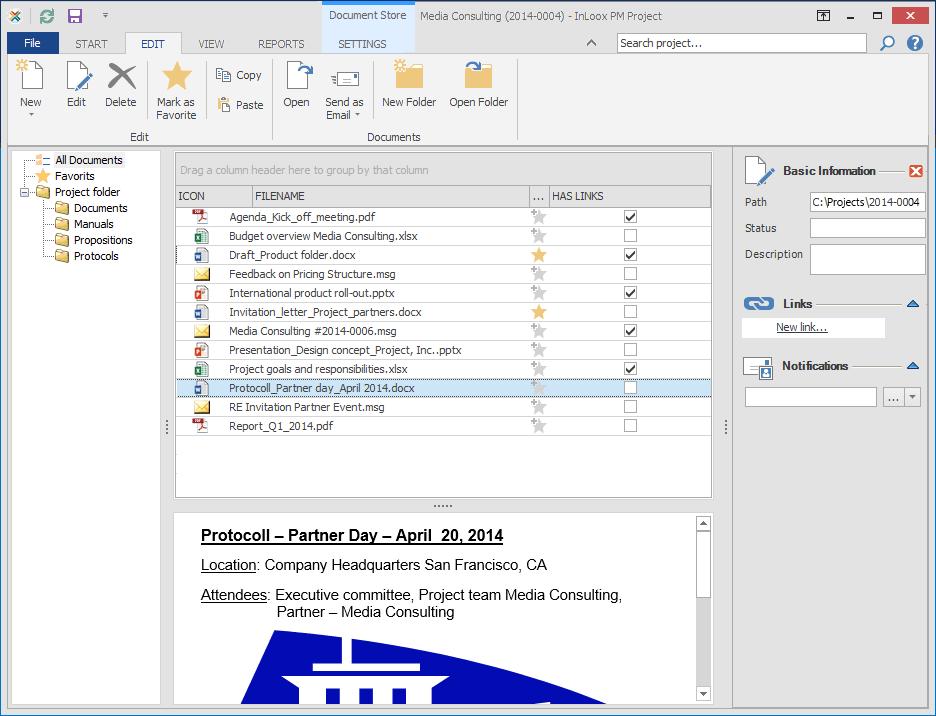 InLoox PM für Outlook