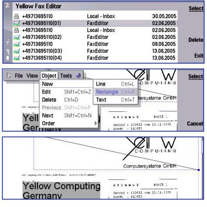 Yellow FaxEditor