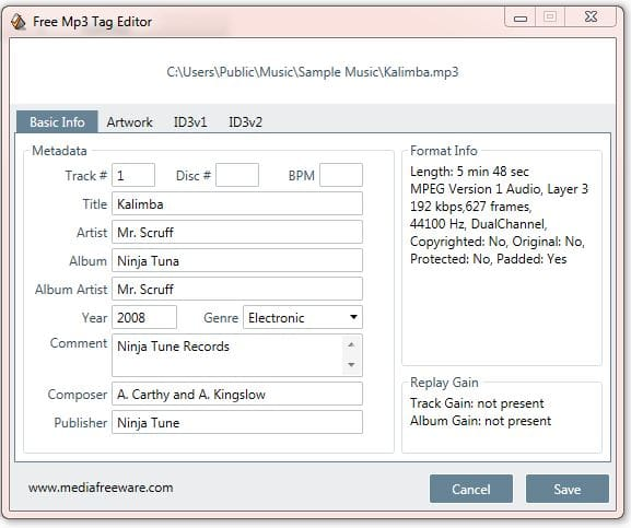 Mac os x mp3 tag editor freeware