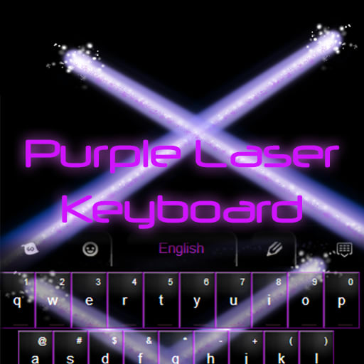 Purple Laser Keyboard