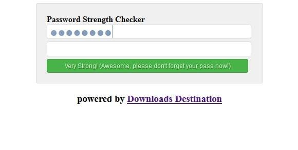 jQuery Password Strength Checker Script