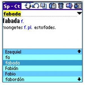 SloveEd PDA: español-catalán