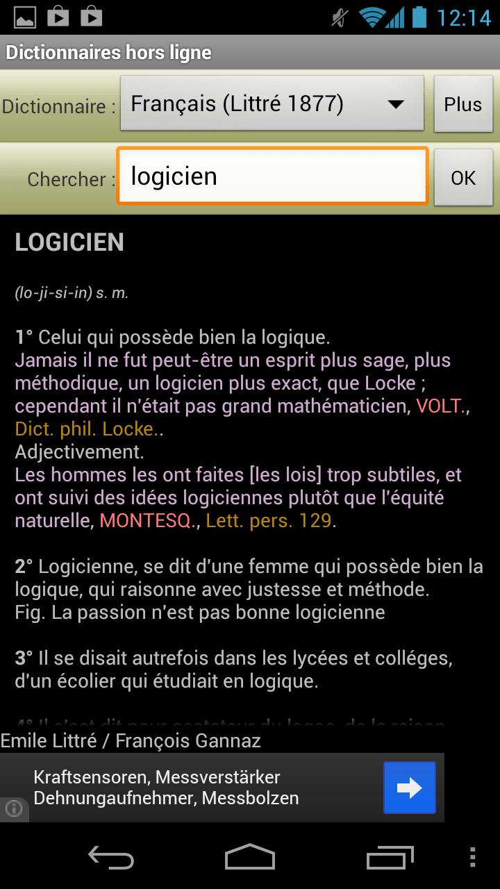 Dictionnaires hors ligne