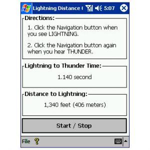 Lightning Distance Calculator