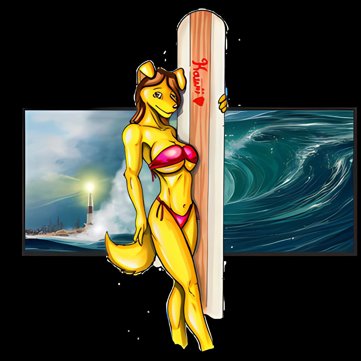 Sexy Tsunami Surfer device-dependant