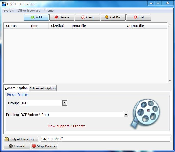 FLV 3GP Converter