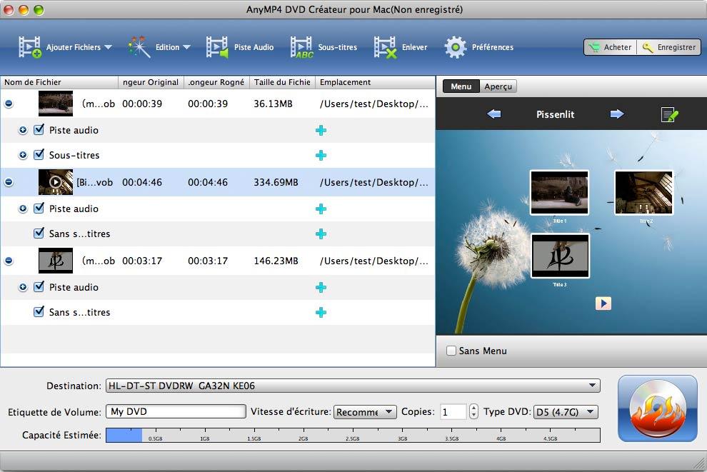 AnyMP4 DVD Créateur pour Mac