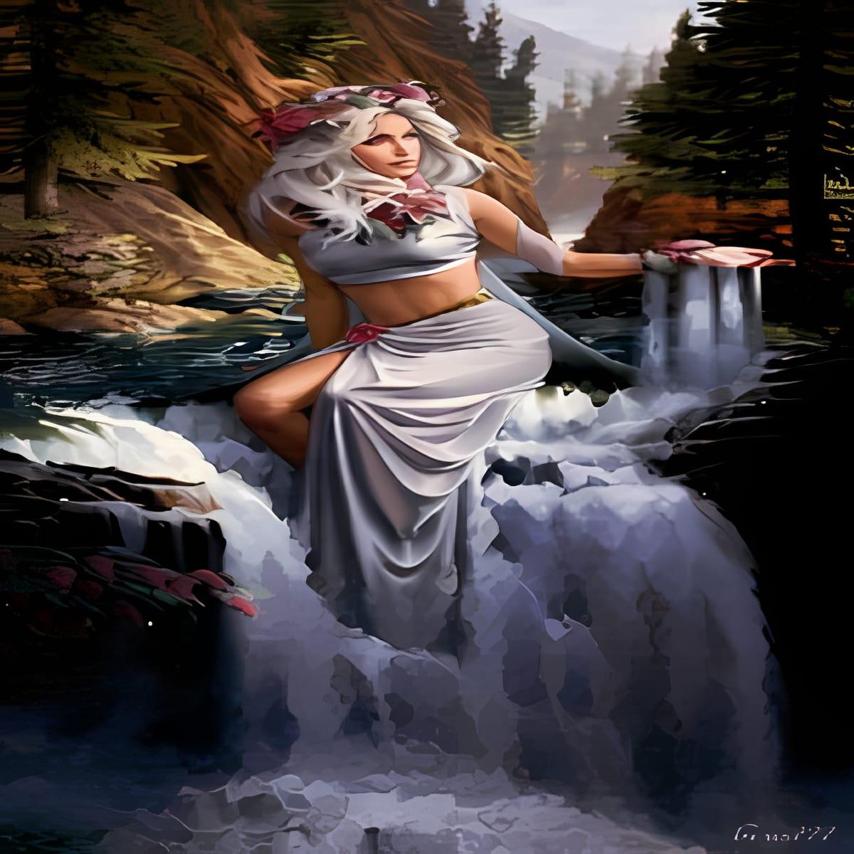 Girl in Waterfalls 1
