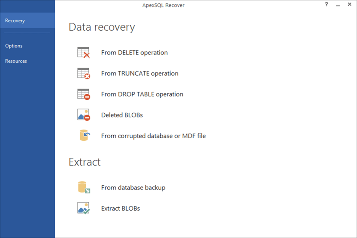 ApexSQL Recover