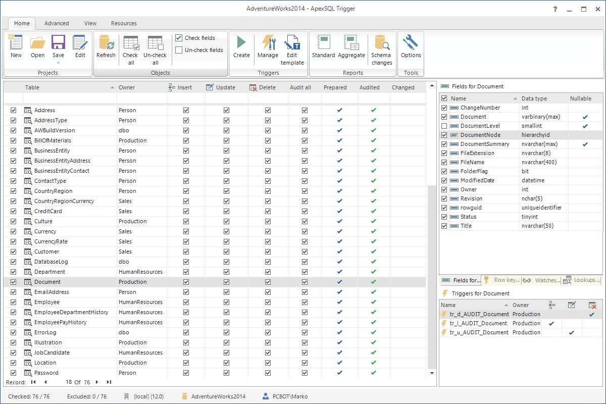 ApexSQL Trigger