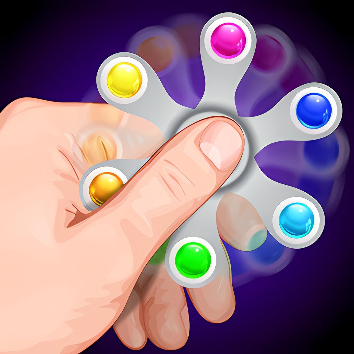 Hand spinner swipe simulator