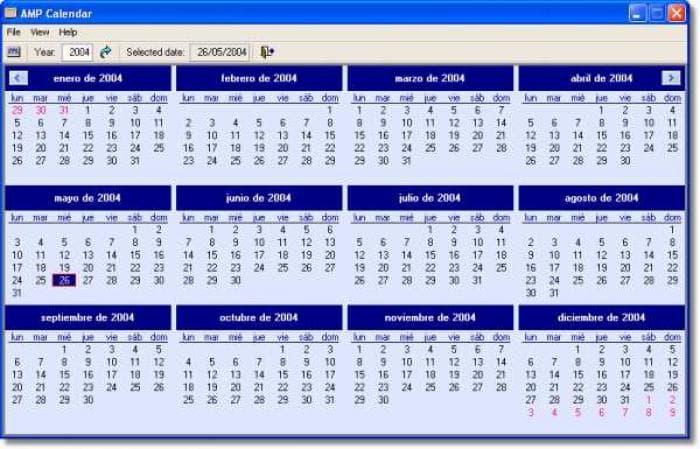 AMP Calendar